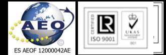 logos ISO9001, TRD y AEOF.